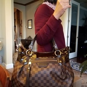 Authentic Louis Vuitton Damier Ebene Evora Modifie